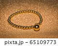 Golden beaded bracelet 65109773