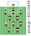 少年サッカーチームのイラスト 65110459