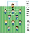少年サッカーチームのイラスト 65110462
