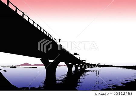 東京湾アクアラインと富士山 Tokyo Bay Aqua-Line,Mount Fuji 65112463