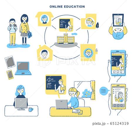 オンライン学習イメージ セット 65124319