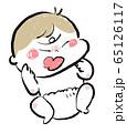 怒る赤ちゃん ベビー イラスト 65126117