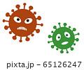 新型コロナウイルス イラスト 赤、緑 65126247