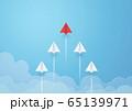 ペーパークラフト-空-紙飛行機-競争 65139971