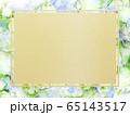 背景-フレーム-ゴールド-花-ブルー 65143517