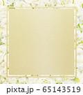 背景-フレーム-ゴールド-白バラ 65143519