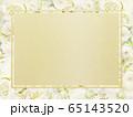 背景-フレーム-ゴールド-白バラ 65143520