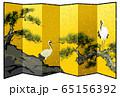 松に鶴 金屏風 65156392