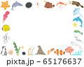 水族館にいる海洋生物の横フレーム 65176637