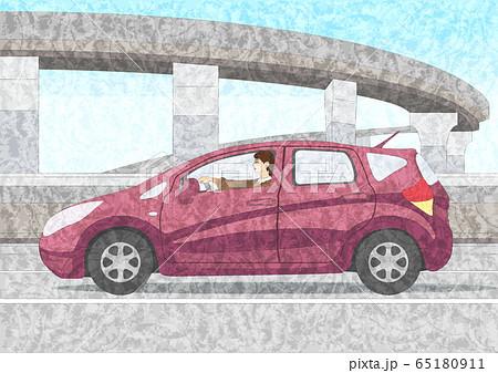 車を運転する女性 65180911