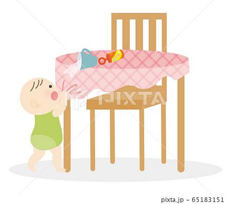 赤ちゃんと机 65183151
