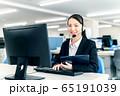 オペレーター オフィス ビジネス 女性 パソコン 65191039