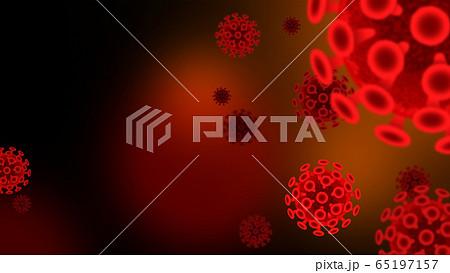 ウイルス 感染症 浮遊菌 背景素材 人物なし 65197157