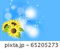 向日葵と光の背景 65205273