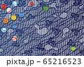 和風 ビー玉と和柄のイラスト 65216523