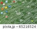 和風 ビー玉と和柄のイラスト 65216524
