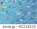 和風 ビー玉と和柄のイラスト 65216525