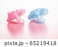 Silicone pacifier. Pink baby pacifier. 65219418