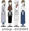 女性 働く 制服 レストラン カフェ 65220843
