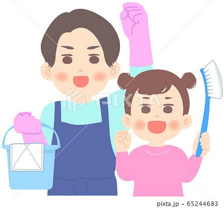 掃除を頑張る父子 - 大掃除 65244683