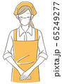 女性店員 お辞儀 マスク 65249277