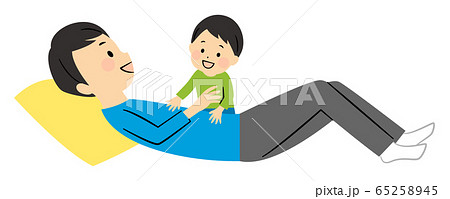 illustration of a dad and his baby 65258945