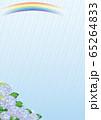 雨と紫陽花(ブルー1) 65264833