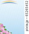 雨と紫陽花(ピンク1) 65265452