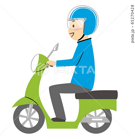 illustration of delivery and bike 65270428