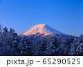 山梨_厳冬の富士山絶景 65290525