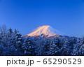 山梨_厳冬の富士山絶景 65290529