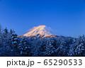 山梨_厳冬の富士山絶景 65290533