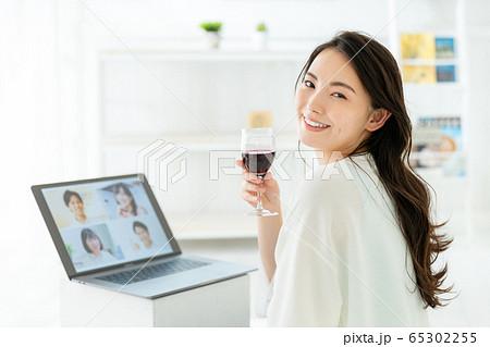 オンライン飲み会 ノートパソコン 65302255
