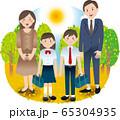 父母と中学生の子供たち 夏秋 行事 65304935