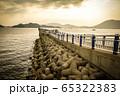 桟橋の夕景 65322383