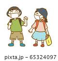 生活習慣_マスクをして通学しよう2 65324097