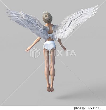 美脚の天使 perming 3DCGイラスト素材 65345109