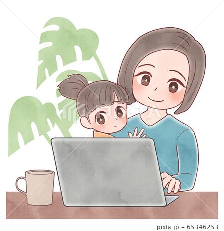 テレカン テレワーク リモートワーク 育児 65346253