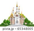 ヨーロッパの城正面-キャッスル 65348005