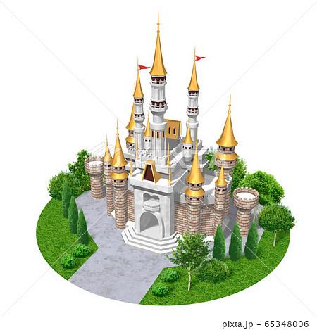 ヨーロッパの城-キャッスルのイラスト 65348006