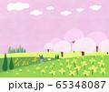 Beautiful spring natural scenery illustration 001 65348087