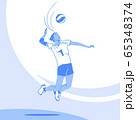 Dynamic sports, Various sports players illustration 052 65348374