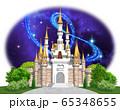 ヨーロッパの城-キャッスル正面星空 65348655