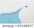 ペーパークラフト-空-雲-紙飛行機 65348937