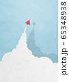 ペーパークラフト-空-雲-紙飛行機 65348938
