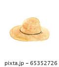 麦わら帽子 水彩イラスト 65352726