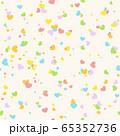 カラフルなハートの背景3 65352736