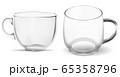 Coffee cup. Clean transparent glass tea mug mockup 65358796