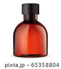 Amber bottle for essential oil. Round medical vial 65358804