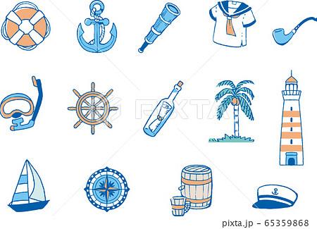 海の無機物イラスト 65359868